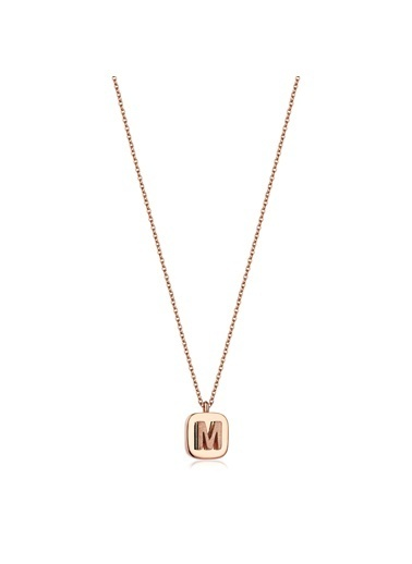 LUXO Diamond Altın Kolye Pembe